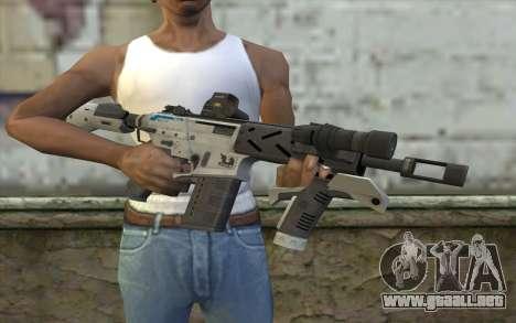 Peacekeeper from Call of Duty Black Ops II para GTA San Andreas tercera pantalla