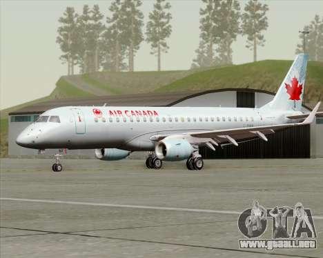 Embraer E-190 Air Canada para GTA San Andreas left