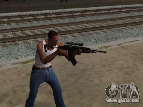 Heavy Sniper Rifle from GTA V para GTA San Andreas tercera pantalla