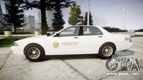 GTA V Vapid Police Cruiser Rotor [ELS] para GTA 4 left