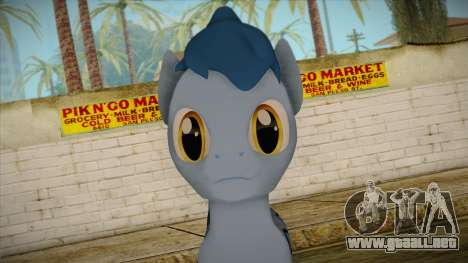 Noteworthy from My Little Pony para GTA San Andreas tercera pantalla