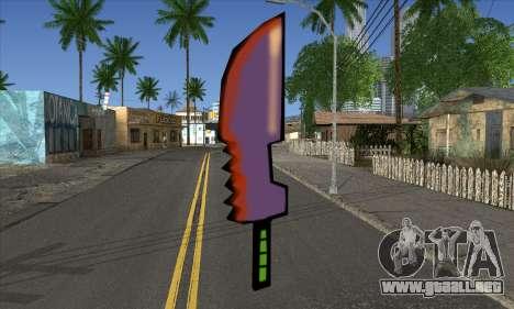 De dibujos animados de la espada para GTA San Andreas