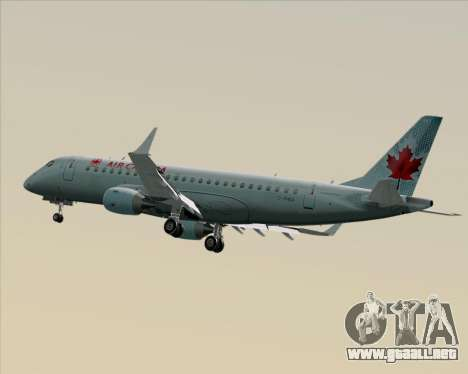 Embraer E-190 Air Canada para visión interna GTA San Andreas