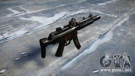 Pistola de MP5SD DRS CS b de destino para GTA 4 segundos de pantalla