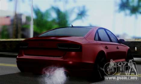 Audi S8 para GTA San Andreas left