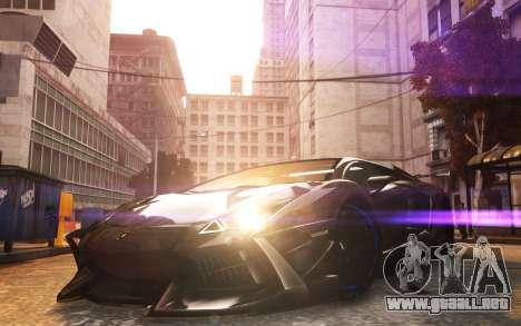 Lamborghini Aventador TZR R-Tech para GTA 4 Vista posterior izquierda