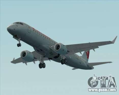 Embraer E-190 Air Canada para vista inferior GTA San Andreas