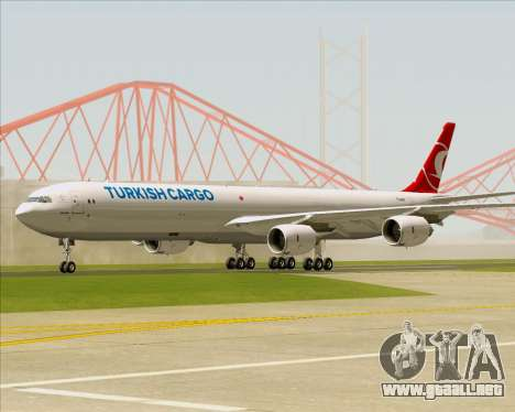 Airbus A340-600 Turkish Cargo para GTA San Andreas left