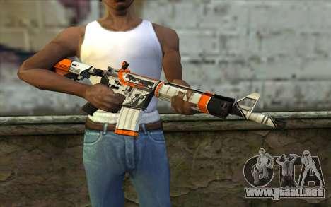 M4A4 from CS:GO para GTA San Andreas tercera pantalla