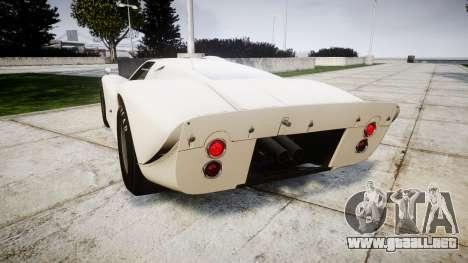 Ford GT40 Mark IV 1967 para GTA 4 Vista posterior izquierda