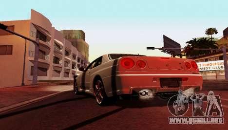 ENB para equipos débiles para GTA San Andreas quinta pantalla