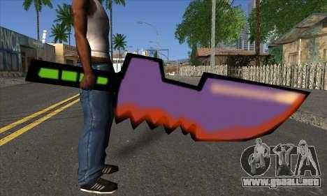 De dibujos animados de la espada para GTA San Andreas tercera pantalla