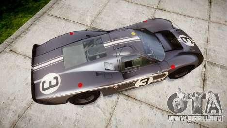 Ford GT40 Mark IV 1967 PJ 3 para GTA 4 visión correcta