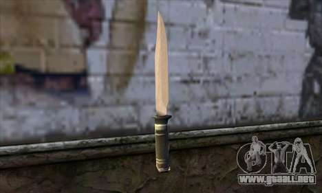 Cuchillo largo para GTA San Andreas segunda pantalla