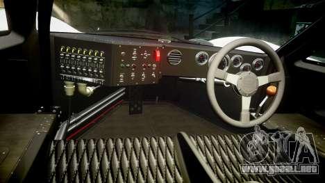 Ford GT40 Mark IV 1967 PJ RAPA olio 8 para GTA 4 vista hacia atrás