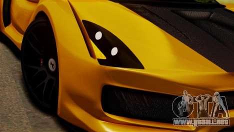 Ferrari Velocita 2013 SA Plate para GTA San Andreas vista posterior izquierda