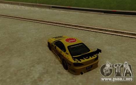 Nissan Silvia S15 NGK Motorsport para GTA San Andreas vista posterior izquierda