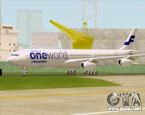 Airbus A340-300 Finnair (Oneworld Livery) para GTA San Andreas left
