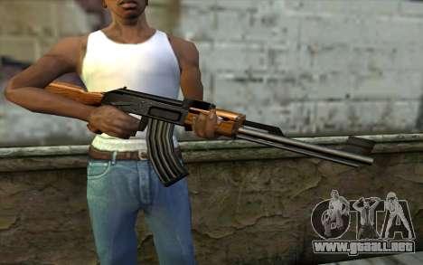 Retextured AK47 para GTA San Andreas tercera pantalla