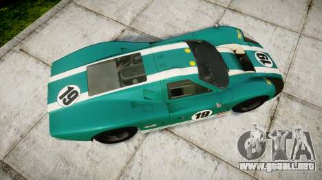 Ford GT40 Mark IV 1967 PJ Schila Racing 19 para GTA 4 visión correcta