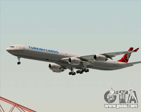 Airbus A340-600 Turkish Cargo para vista inferior GTA San Andreas