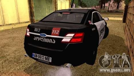 Ford Taurus 2013 Georgia Police Car para GTA San Andreas left