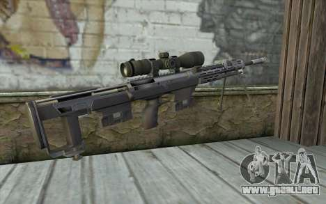 Sniper Rifle from Sniper Ghost Warrior para GTA San Andreas segunda pantalla