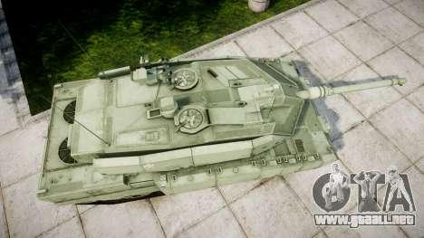 Leopard 2A7 EU Green para GTA 4 visión correcta