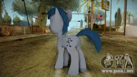 Noteworthy from My Little Pony para GTA San Andreas segunda pantalla
