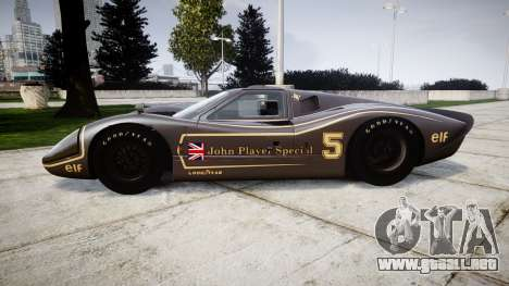 Ford GT40 Mark IV 1967 PJ JPS 5 para GTA 4 left