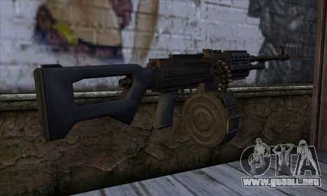 MG from GTA 5 para GTA San Andreas segunda pantalla