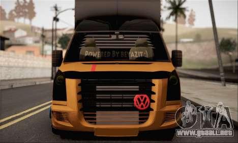 Volkswagen Crafter para GTA San Andreas vista posterior izquierda