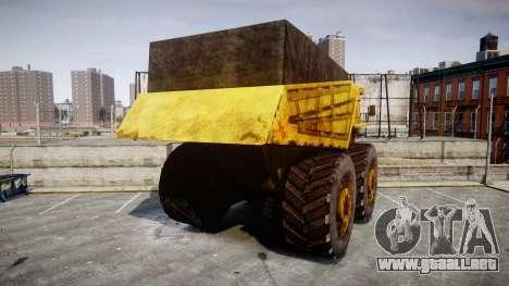 Mining Truck para GTA 4 Vista posterior izquierda