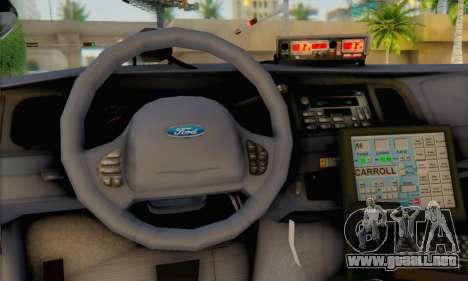 Ford Crown Victoria 1999 Walking Dead para GTA San Andreas vista posterior izquierda