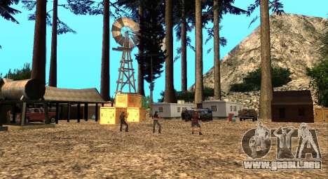 El Altruista campamento en el monte Chiliad para GTA San Andreas segunda pantalla