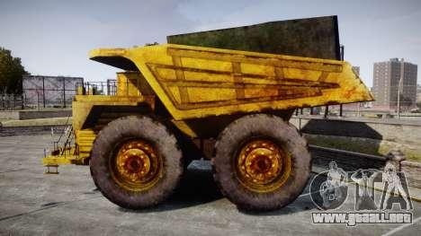 Mining Truck para GTA 4 left