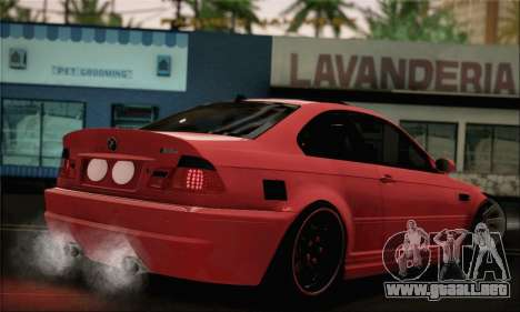 BMW M3 Coupe Tuned Version Burnout para GTA San Andreas left
