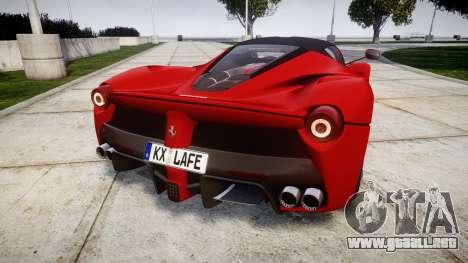 Ferrari LaFerrari 2014 [EPM] para GTA 4 Vista posterior izquierda