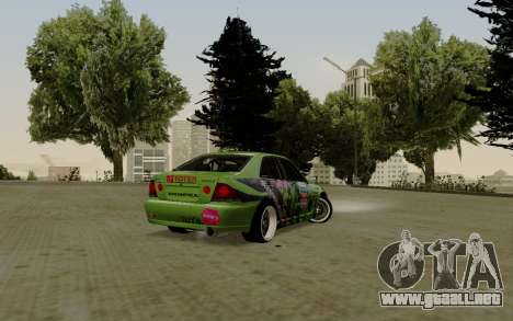 Toyota Altezza Toy Sport para GTA San Andreas vista posterior izquierda