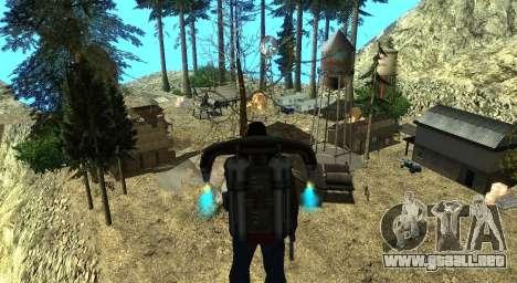 El Altruista campamento en el monte Chiliad para GTA San Andreas undécima de pantalla