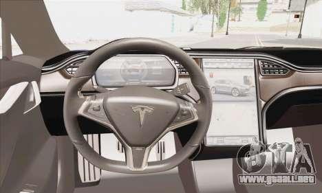 Tesla Model S 2014 para GTA San Andreas vista posterior izquierda