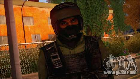 Urban from Counter Strike Condition Zero para GTA San Andreas tercera pantalla