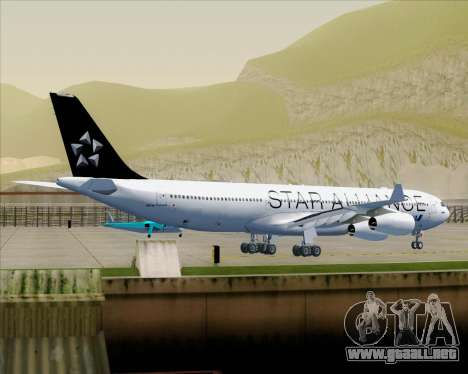 Airbus A340-300 All Nippon Airways (ANA) para las ruedas de GTA San Andreas