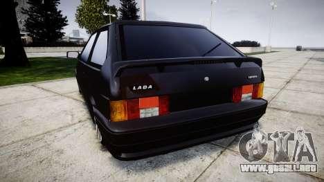 VAZ-2113 en el pneuma para GTA 4 Vista posterior izquierda