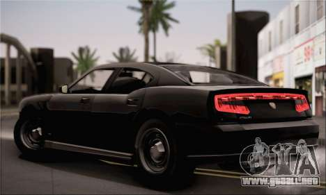 Bravado Buffalo S FIB para GTA San Andreas vista posterior izquierda