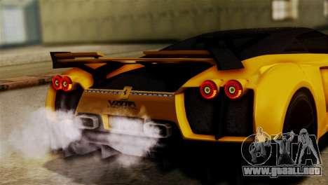 Ferrari Velocita 2013 SA Plate para la visión correcta GTA San Andreas