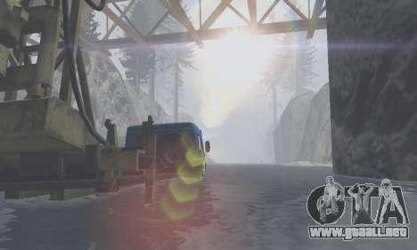 Pista de off-road 4.0 para GTA San Andreas quinta pantalla