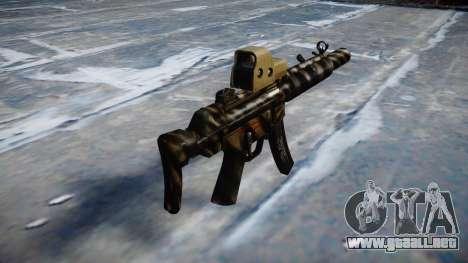 Pistola de MP5SD EOTHS CS c de destino para GTA 4 segundos de pantalla