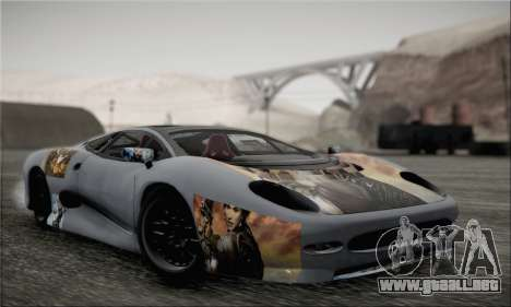 Jaguar XJ220S Ultimate Edition para GTA San Andreas vista hacia atrás