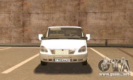 Gacela de Remolque 33023 v1.2 Beta para visión interna GTA San Andreas
